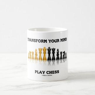 Taza De Café Transforme su juego de ajedrez del consejo del