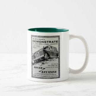 Taza de café trapezoidal del anuncio de Rover