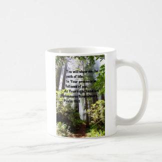 Taza De Café Trayectoria del salmo de la vida