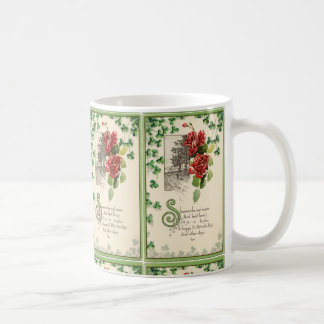Taza De Café Tréboles y rosas