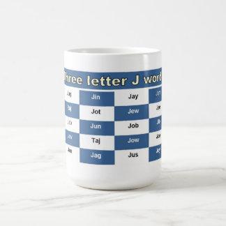 Taza De Café Tres palabras de la letra J para los crucigramas o