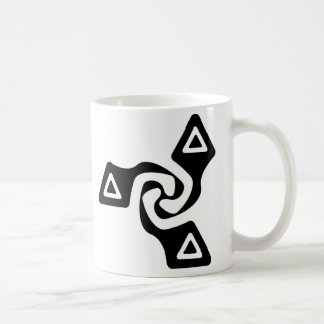 Taza De Café Tri flechas básicas (negro)