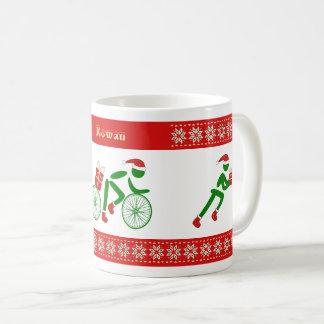 Taza De Café Triathletes conocidos de encargo del navidad