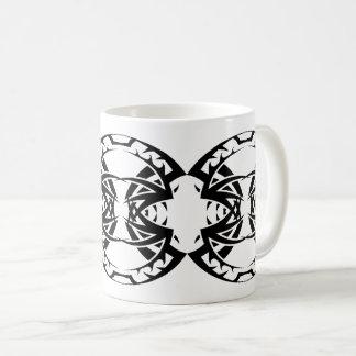 Taza De Café Tribal mug 15 black and white