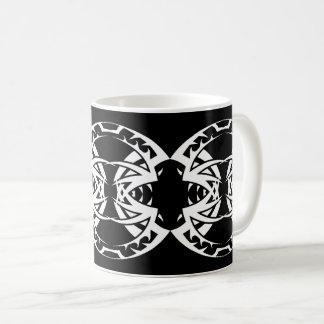 Taza De Café Tribal mug 15 white over black