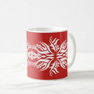 Taza De Café Tribal mug 5 white over red