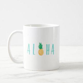 Taza de café tropical de la piña de la hawaiana
