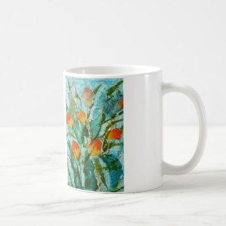 Taza De Café Tulipanes de la primavera de la pintura de la