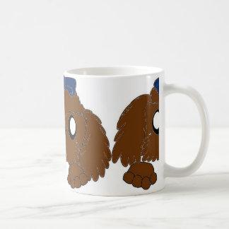 Taza De Café tzu de shih que mira a escondidas el hígado