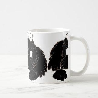 Taza De Café tzu de shih que mira a escondidas negro