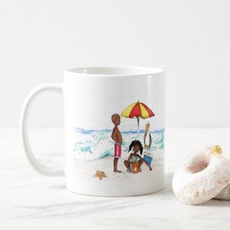 Taza De Café Un día en la playa