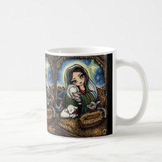 Taza De Café Un salvador es navidad nacido de la natividad del