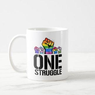 Taza De Café Una lucha - LGBTQ - las derechas de LGBTQ -