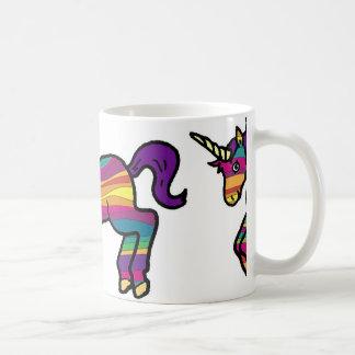 Taza De Café Unicornio del remolino del arco iris