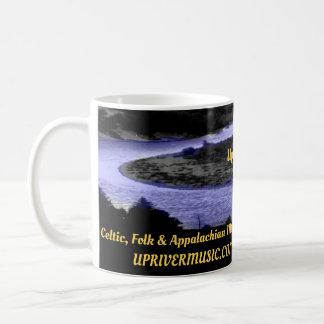 Taza de café Upriver de la música