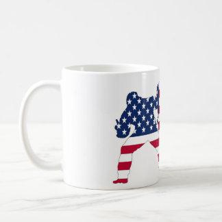 Taza De Café Usa flag snowboardes mug