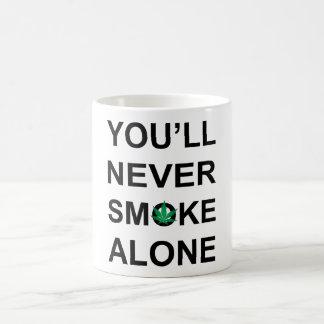 Taza De Café usted nunca fumará solamente