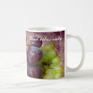 Taza De Café Uvas rojas y verdes
