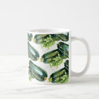 Taza De Café Vegetariano de la verdura del calabacín de las
