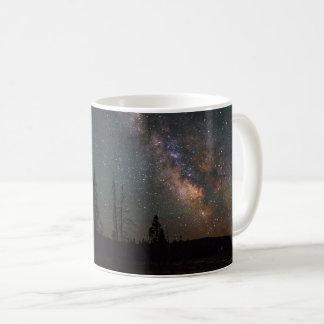 Taza De Café Vía láctea sobre el lago Firehole
