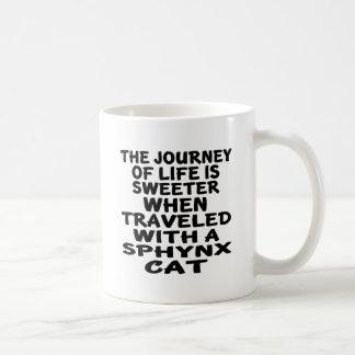 Taza De Café Viajado con el gato de Sphynx