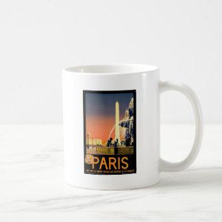 Taza De Café Viaje París Francia del vintage