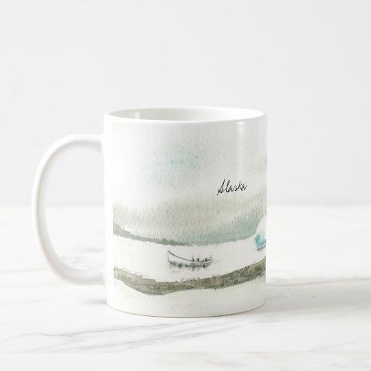 Taza De Café Viaje zurdo del barco de Alaska