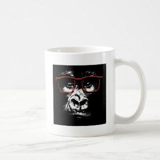 Taza De Café Vidrios del rojo del gorila