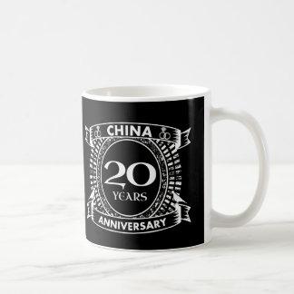 Taza De Café vigésima China del aniversario de boda