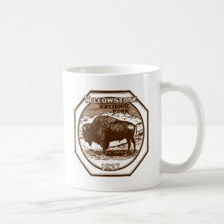 Taza De Café Vintage 1937 del parque nacional de Yellowstone