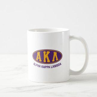 Taza De Café Vintage alfa de la lambda el | de Kappa
