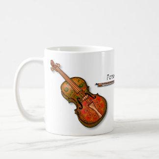 Taza De Café Violín imaginario para el violinista