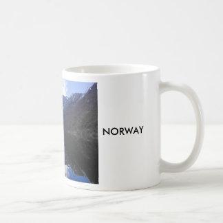 Taza De Café Vista del Fjordes, Noruega