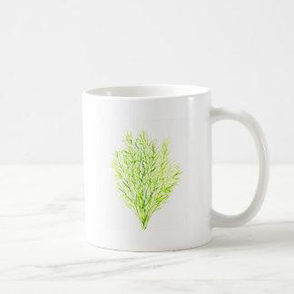 Taza De Café Watercolour del eneldo de las hierbas del eneldo