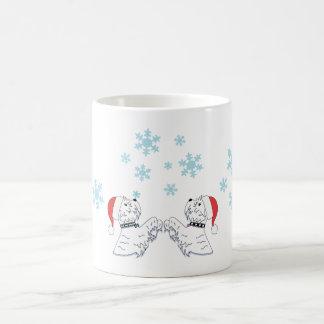 Taza De Café Westies y copos de nieve