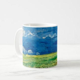 Taza De Café Wheatfield debajo de las nubes tormentosas de