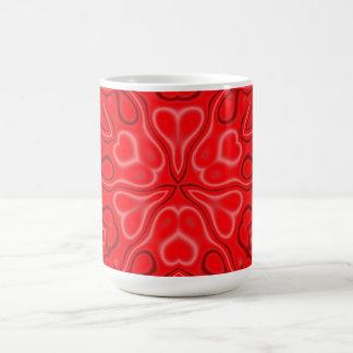 Taza De Café Wildflower de California en rojo y rosa