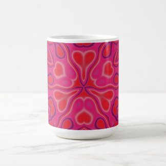 Taza De Café Wildflower de California en rosa y rojo