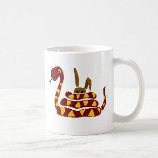 Taza De Café WX- serpiente divertida que exprime el dibujo