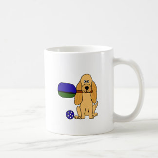 Taza De Café XX dibujo animado de Pickleball cocker spaniel