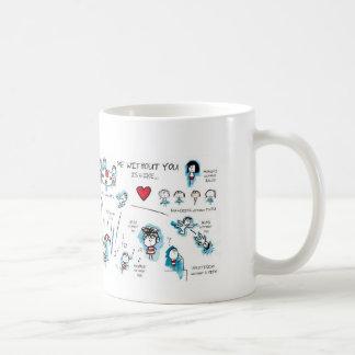 Taza De Café Yo sin usted - tarjeta del día de San Valentín -
