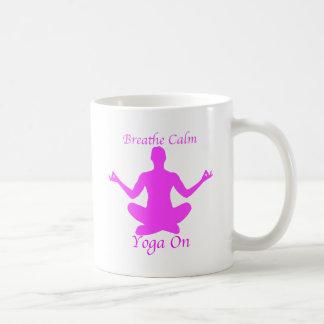Taza De Café Yoga BreatheCalmYogaOn