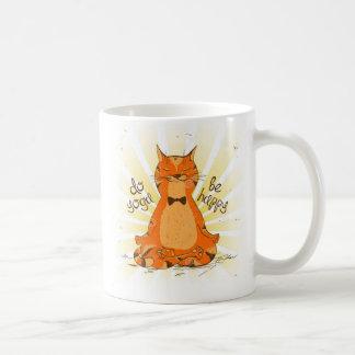 Taza De Café YOGA OM_be_happy Orange Cat Mug