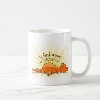 Taza De Café YOGA OM_best_asana Orange Cat Mug