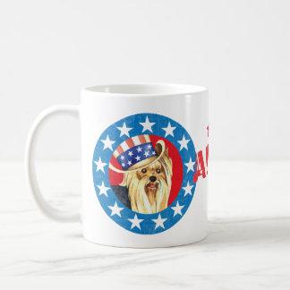 Taza De Café Yorkie patriótico