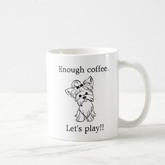 Taza De Café Yorkie - Yorkshire Terrier - juego del café