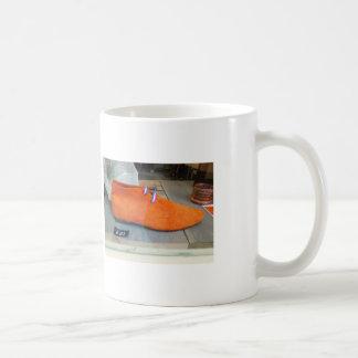 Taza De Café Zapato holandés del naranja de la fotografía