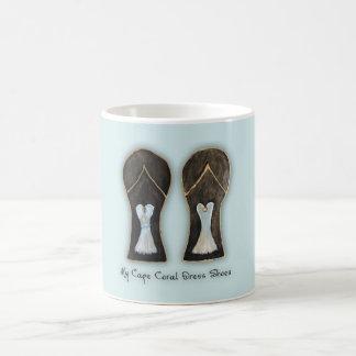 Taza De Café Zapatos de vestir coralinos de la Florida del cabo