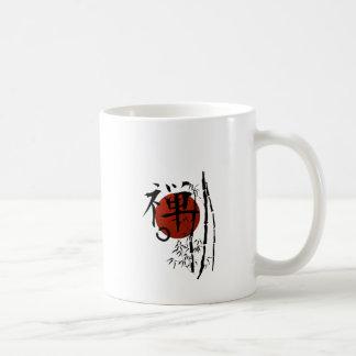 Taza De Café Zen del kanji con Enso y el bambú