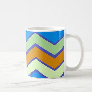 Taza De Café Zigzags al sudoeste de la majestad del diseñador